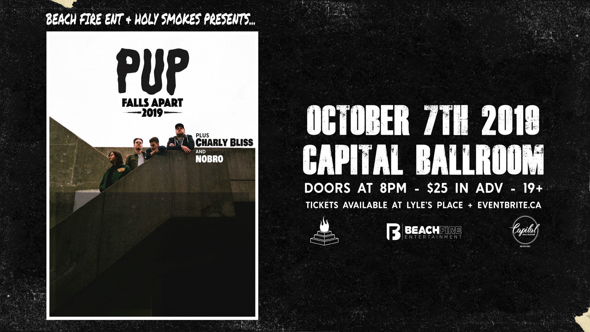 PUP October 7, 2019 | Capital Ballroom