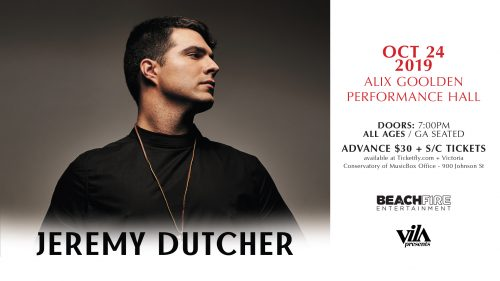 Jeremy Dutcher October 24, 2019 | Alix Goolden Hall