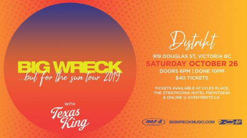 Big Wreck October 26, 2019 | Distrikt
