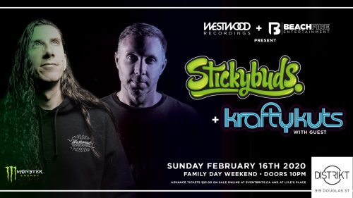 Stickybuds & Krafty Kuts February 16, 2020 | Distrikt
