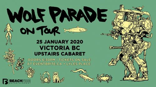 Wolf ParadeJanuary 25, 2020 | Upstairs Cabaret